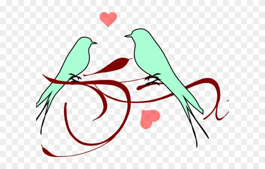 Love small bird clip. Birds clipart wedding
