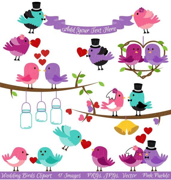 Clip art valentine love. Birds clipart wedding