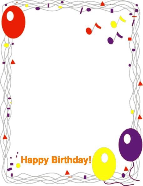 Happy clip art. Birthday border png
