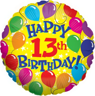 Clipart birthday 13th. Free cliparts download clip