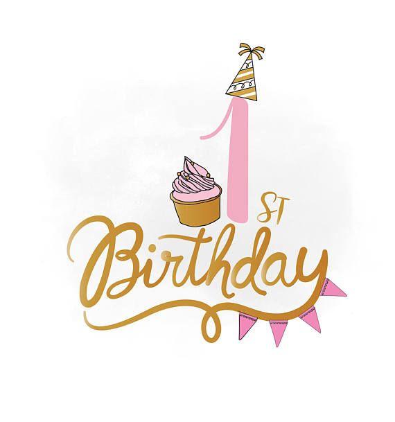Birthday clipart 1st.  st svg baby