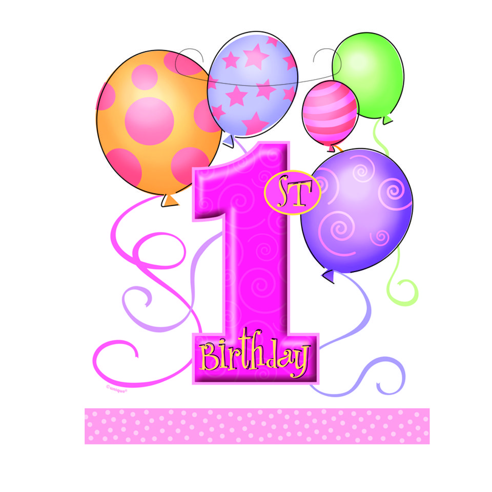 Free first cliparts download. Birthday clipart 1st