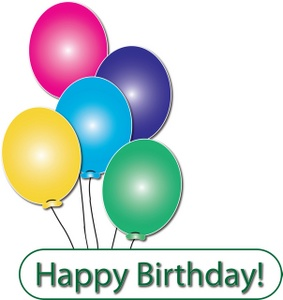 April clipart happy birthday. Birthdays free