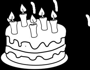 Cake black and white
