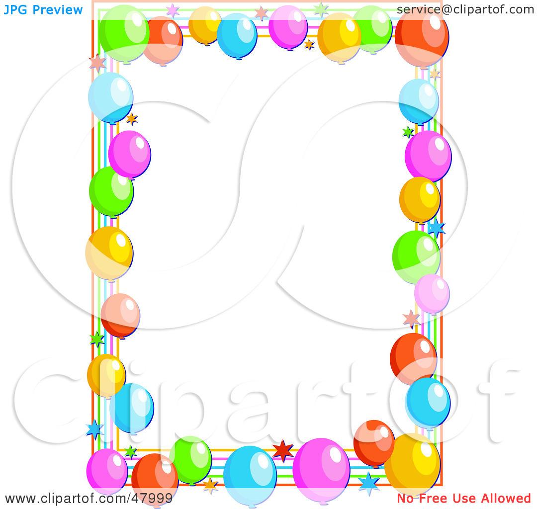 Celebration clipart border. Free birthday clip art