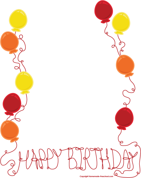 Boarder clipart happy birthday. Free borders download clip
