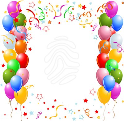 Border template free birthday. Balloon clipart frame