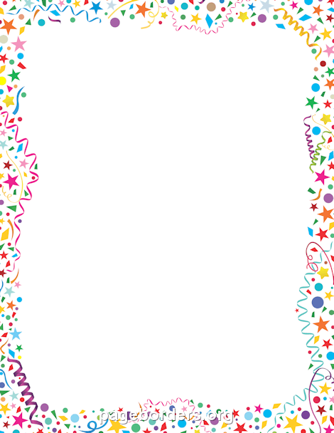 Birthday clipart border. The top best blogs