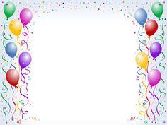 Free balloon art clip. Birthday clipart border