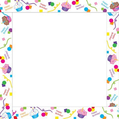Happy clip art borders. Birthday clipart border
