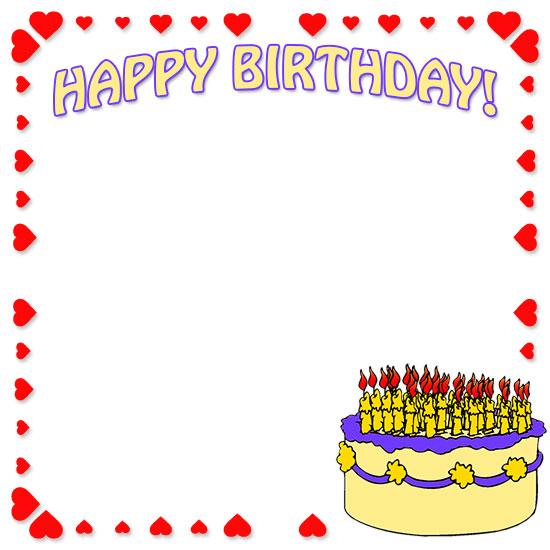 Free borders border clip. Boarder clipart happy birthday