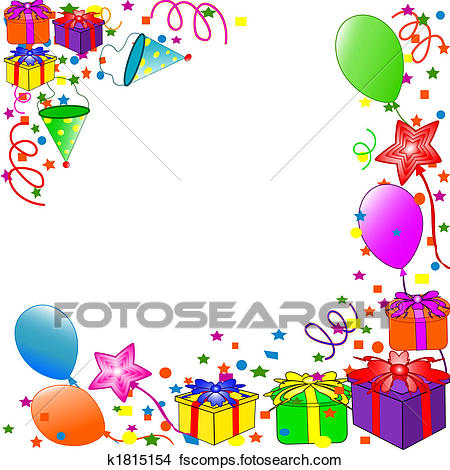 Birthday clipart border. Free borders balloon preview