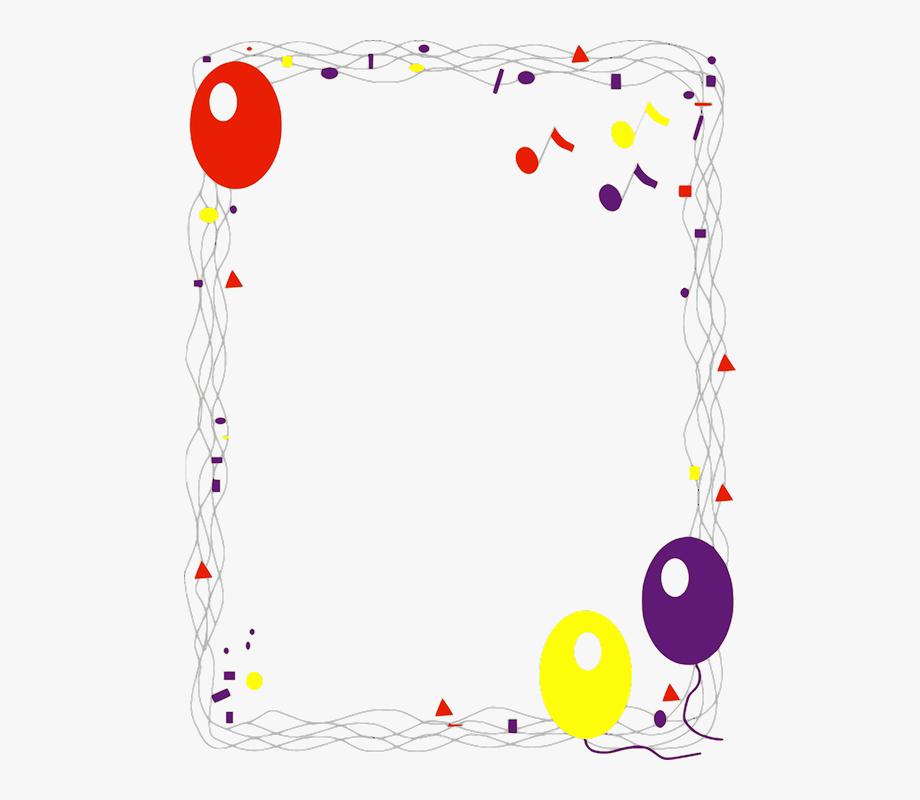 Birthday clipart border. Gold confetti cliparts buy