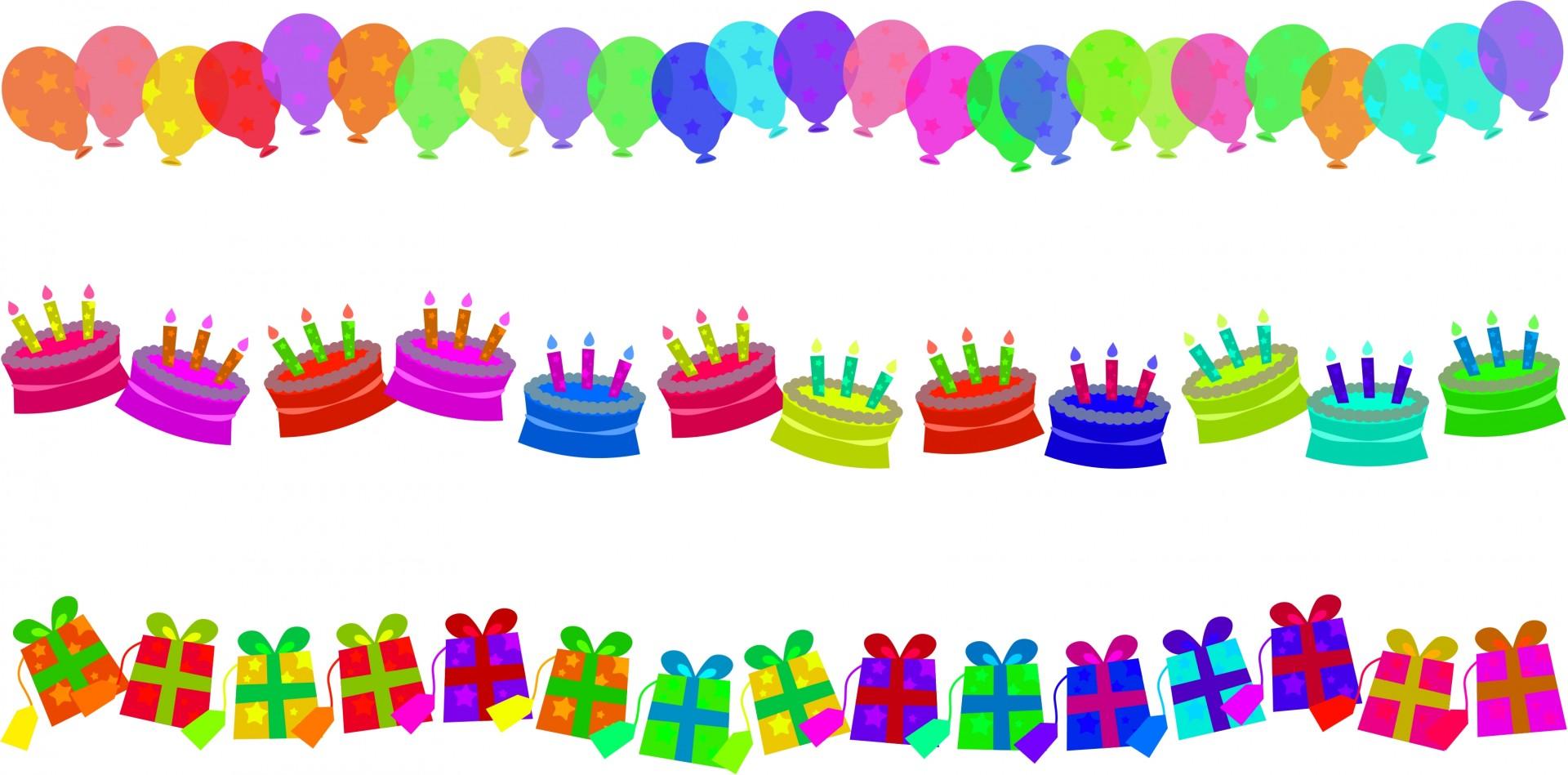 Anniversary clipart border. Birthday edges free stock