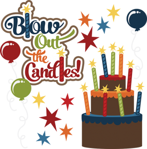 Blow out the svg. Candles clipart kid