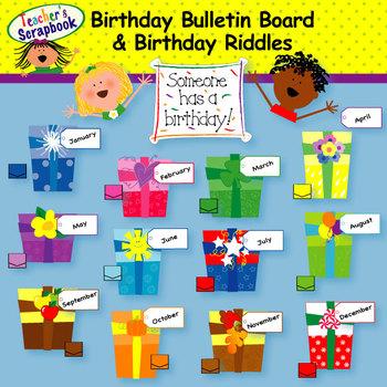 Birthday clipart bulletin. Board clip art by