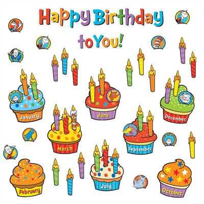Birthday clipart bulletin. Dr seuss mini board