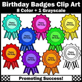 Birthday clipart bulletin. Happy badges commercial use