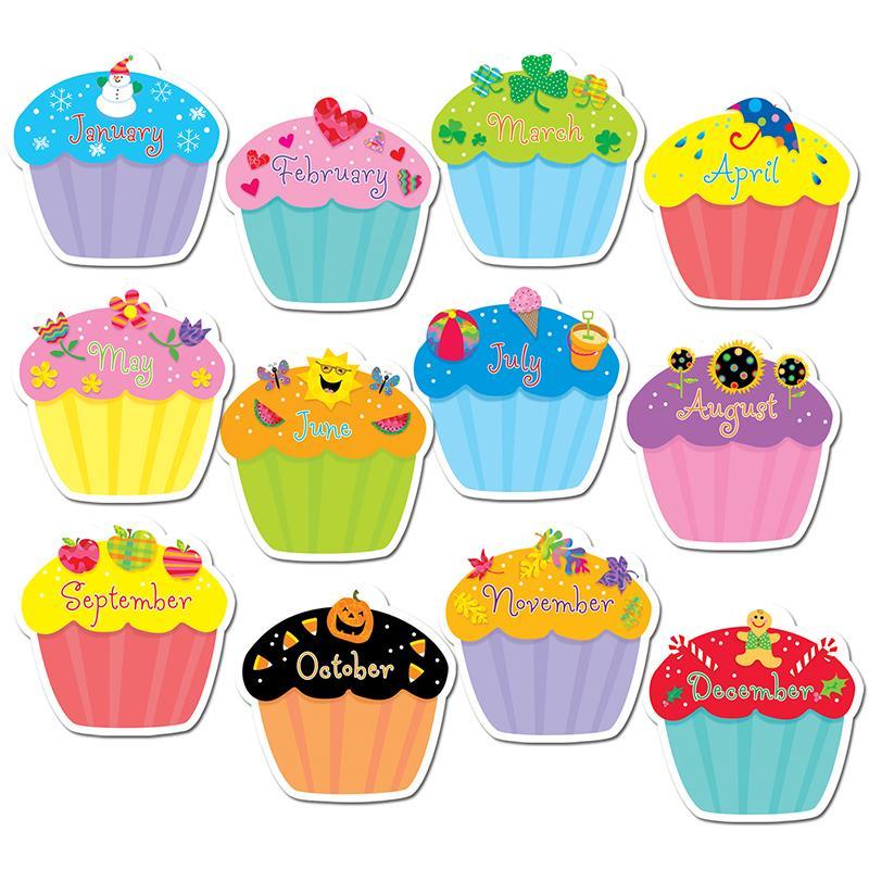 Birthday clipart bulletin. Cupcakes jumbo cut outs
