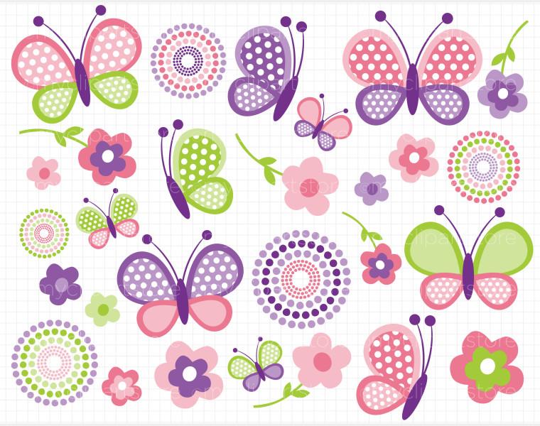 Butterflies clipart polka dot. Birthday butterfly clipartfest clipartix