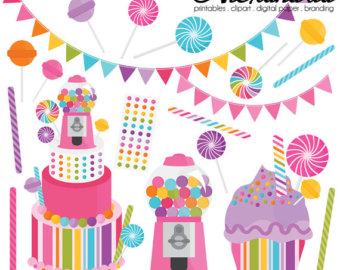 Shop sweet clip art. Birthday clipart candy