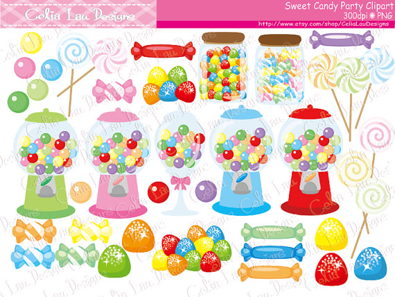 Birthday clipart candy. Sweet shop candies shoppe