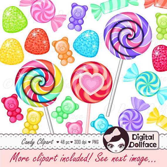 Birthday clipart candy. Rainbow sweet shop clip