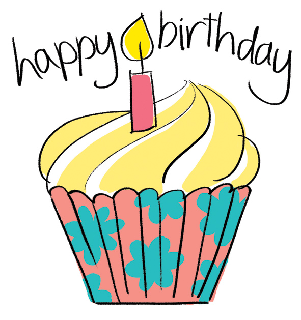 Birthday clipart classy. Happy candle in cake