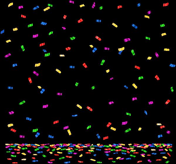 White clipart confetti. Png clip art image