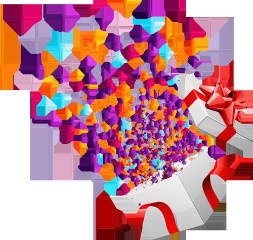 Birthday clipart confetti. Vector buscar con google