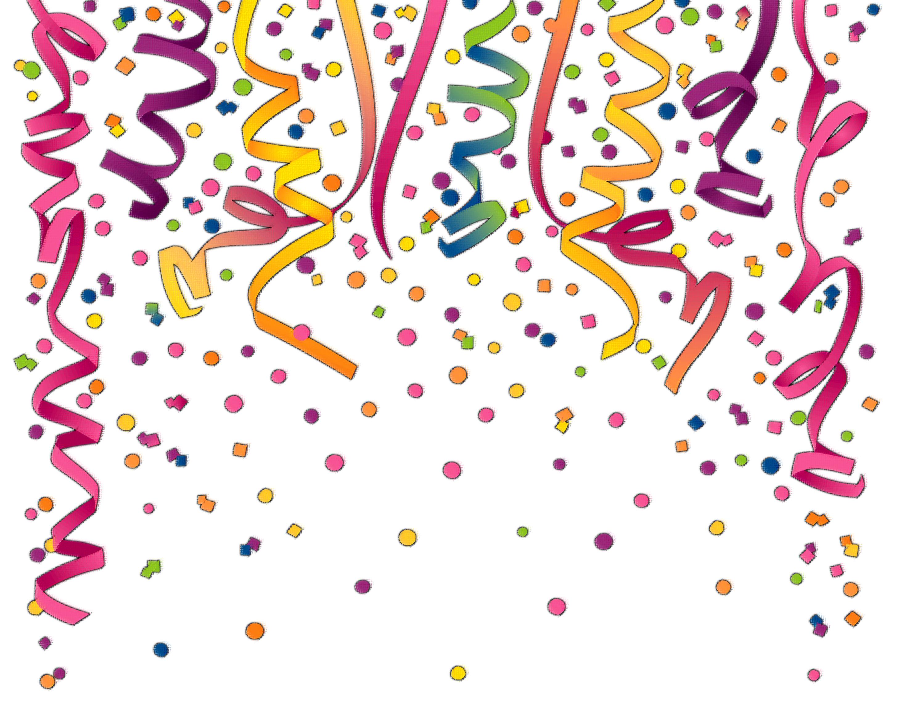 Birthday clipart confetti. Background best happy wishes