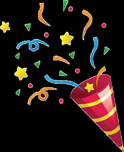 Free to use clip. Birthday clipart confetti