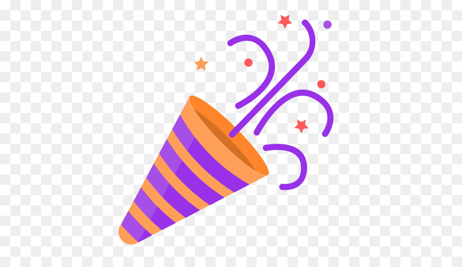 Party computer icons clip. Birthday clipart confetti