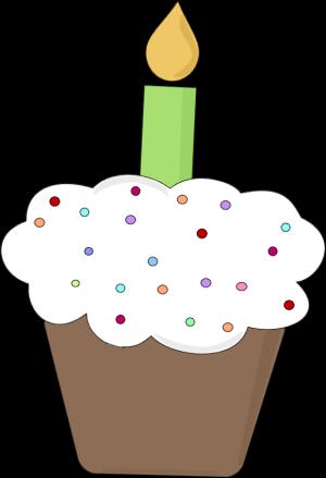 Fun clip art image. Candle clipart birthday cupcake