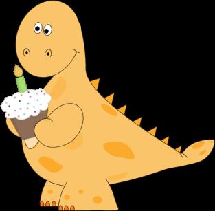 birthday clipart dinosaur