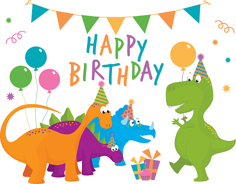 Free birthday cliparts download. Dinosaur clipart party