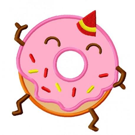 Lunastitches com. Birthday clipart donut