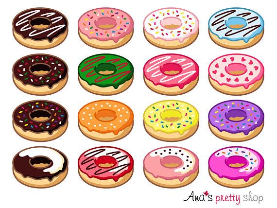 Birthday clipart donut. Doughnut sweet dessert pastry