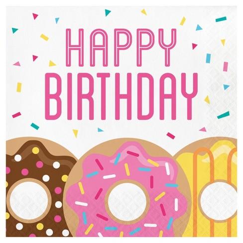 Birthday clipart donut.  ct time napkins