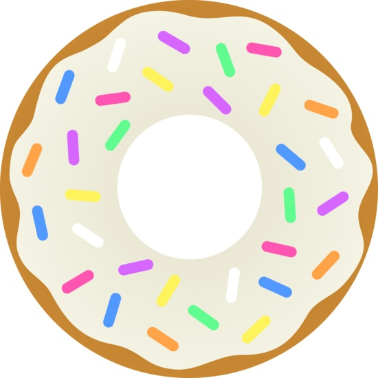 Blue clipart donut.  best images on