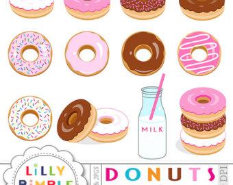 Birthday clipart donut. Etsy donuts for invitation
