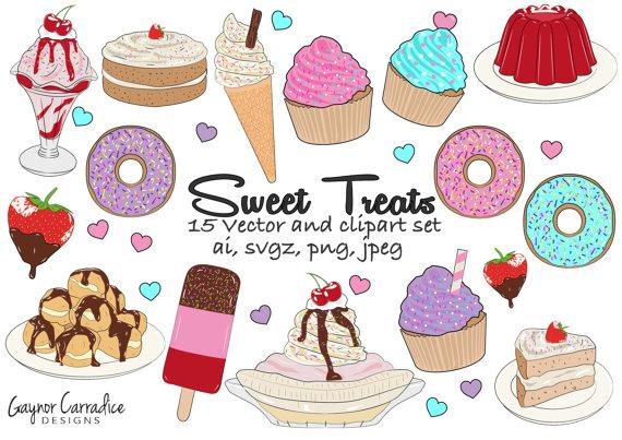 Desserts cakes bakery doughnut. Birthday clipart donut