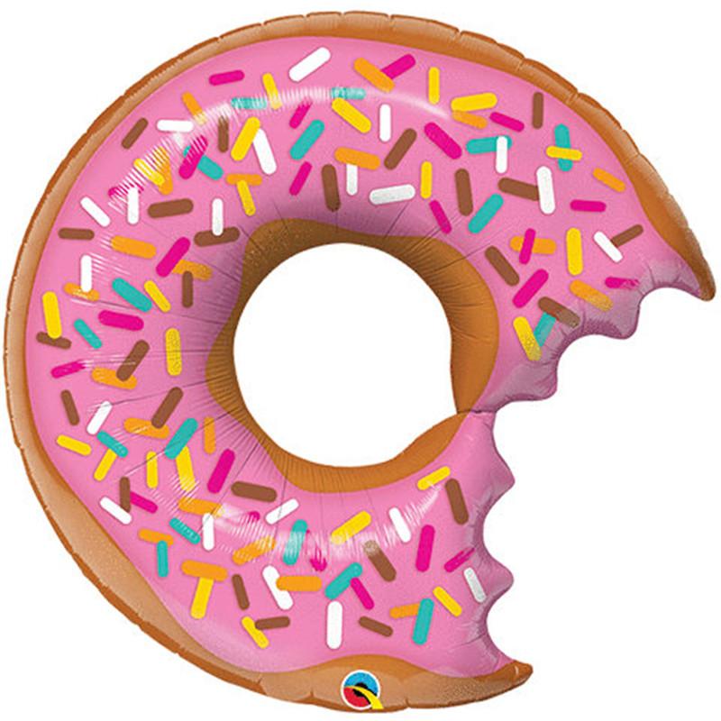 Birthday clipart donut. Meidding pcs happy balloon