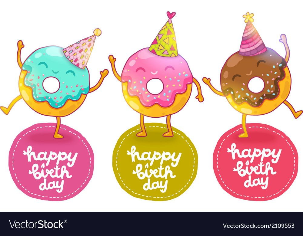 Doughnut clipart birthday. Pin by stephanie english