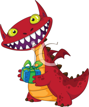 Birthday clipart dragon. And gift pinterest