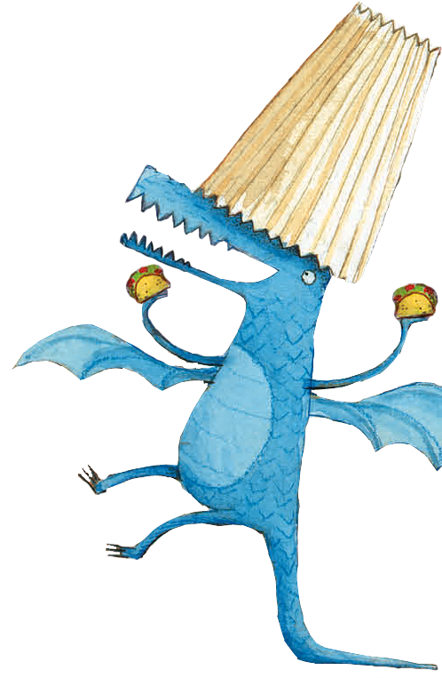 Print out the art. Birthday clipart dragon