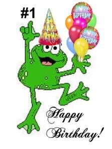 Clipart frog party. Happy birthday my wallpaper