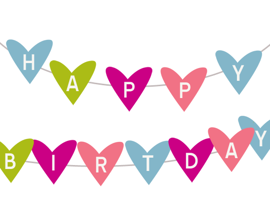 Birthday clipart heart. Clip art happy animated