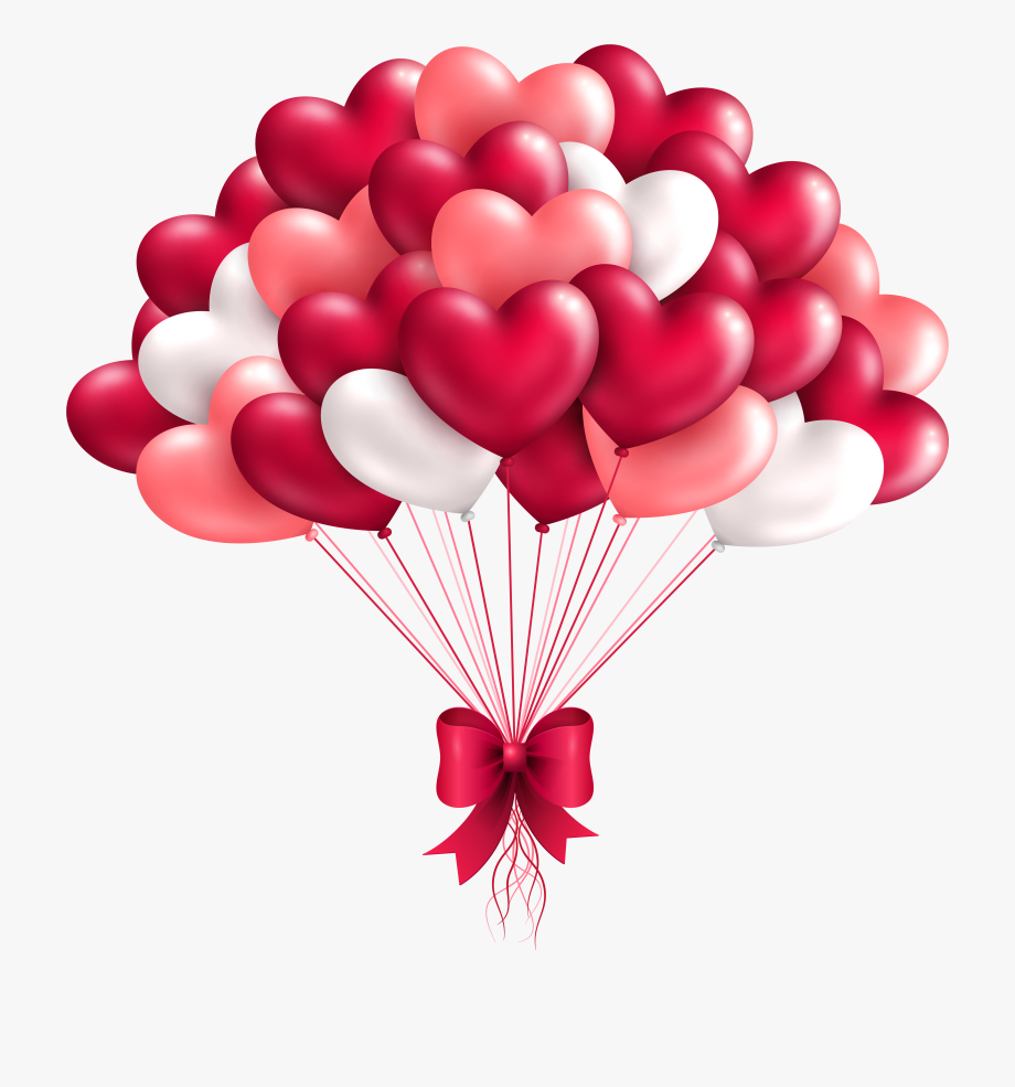 Beautiful image gallery balloons. Birthday clipart heart
