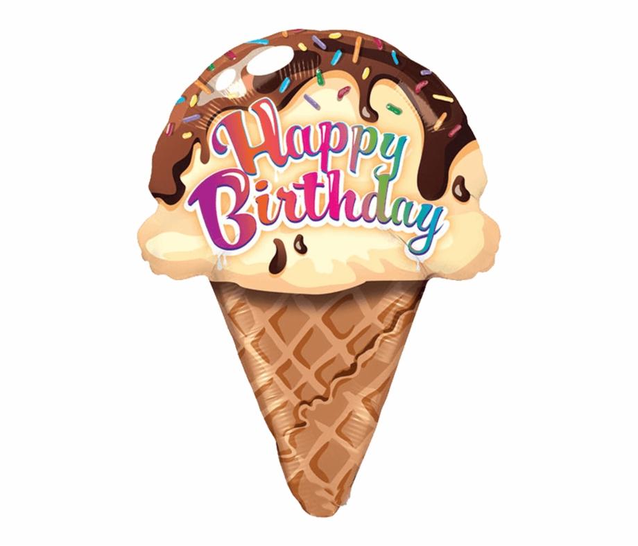 Cone clipart happy birthday. Ice cream transparent png
